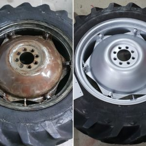 Before and after RA85 on wheel