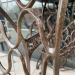 After application of Owatrol Oil to rusted metal