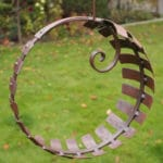 Garden sculpture by Chris Kampf finished with Owatrol Oil