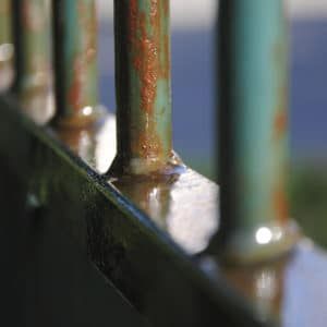Owatrol Oil on metal fence