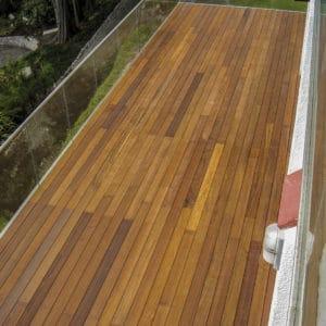Textrol application on balcony