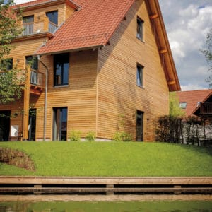 Textrol applied to wood cladding