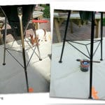 Before and after application of Owatrol Deco on metal work