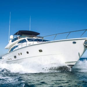 Owalak applied to motor yacht