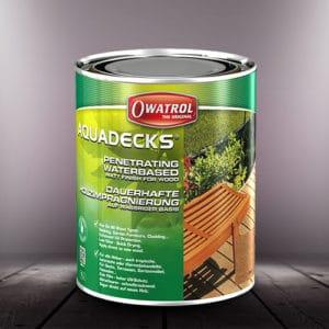 Aquadecks water-based wood finish