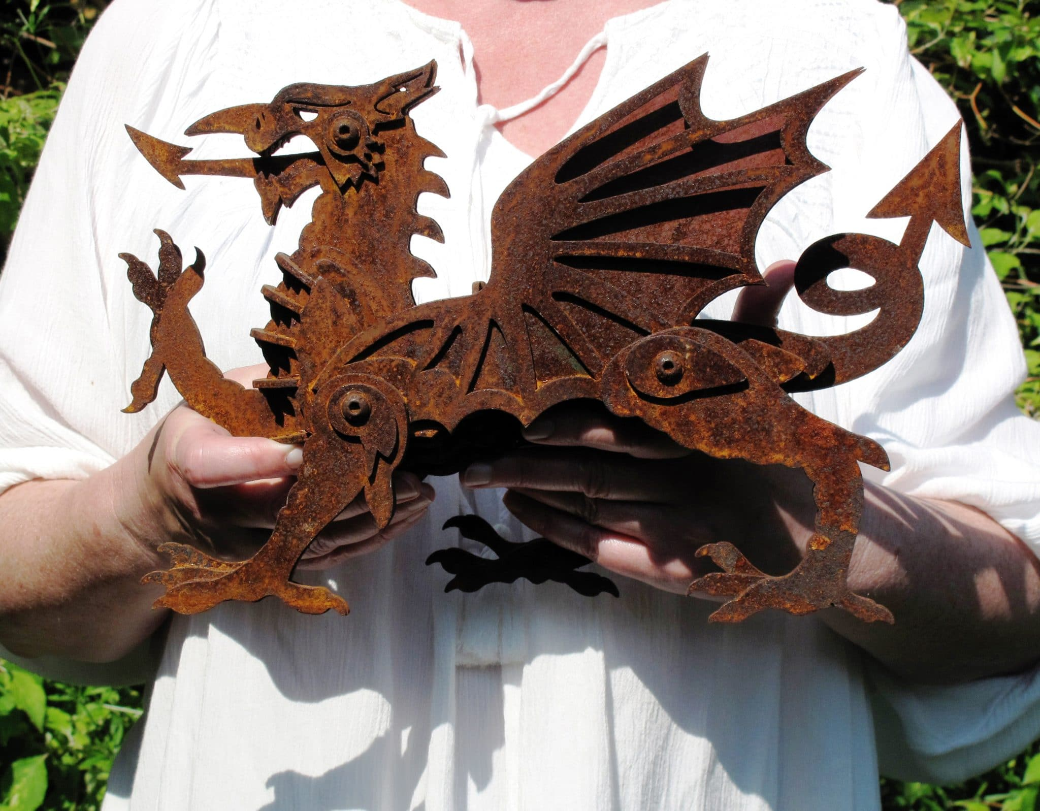 Black Sheep Steel Dragon Sculpture finished with Owatrol Oil