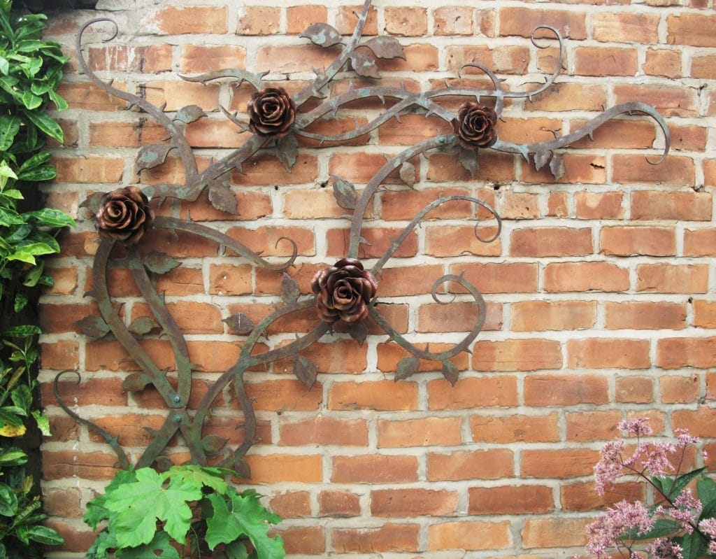 Metal rose artwork protected with Owatrol Oil