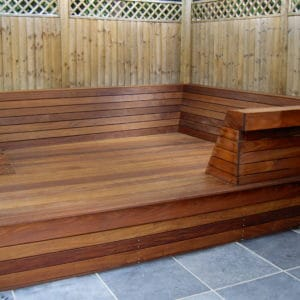 Textrol HES applied to seated decking area