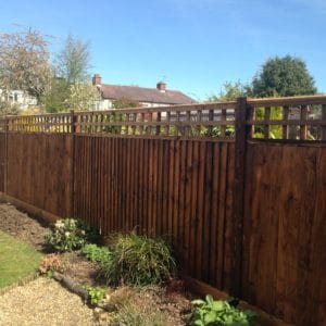 Textrol HES applied to garden fence