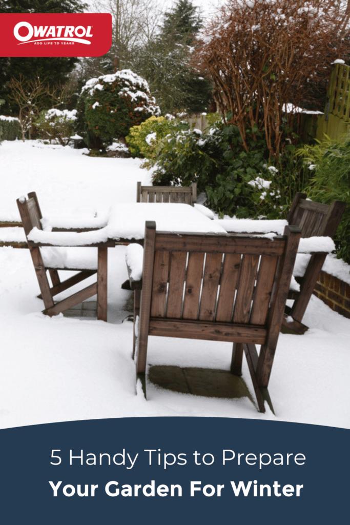 5 handy tips to prepare your garden for winter - Pinterest