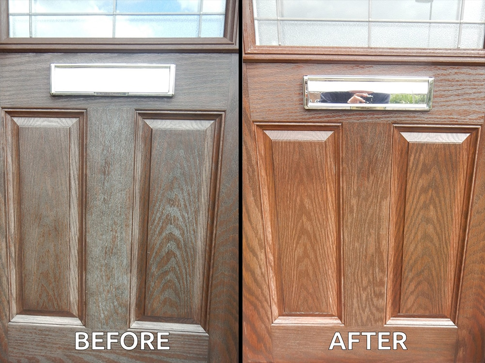 Use Polytrol to revive the colour of your composite front door