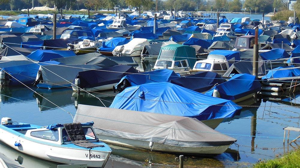 winter boat cover