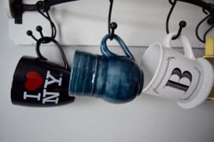 boat storage - hanging mugs