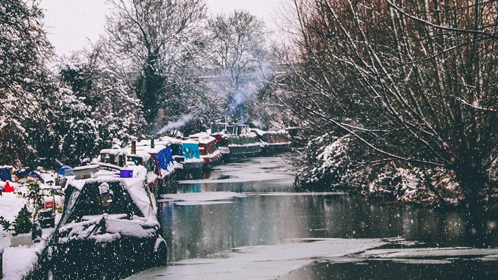 winter on a canal