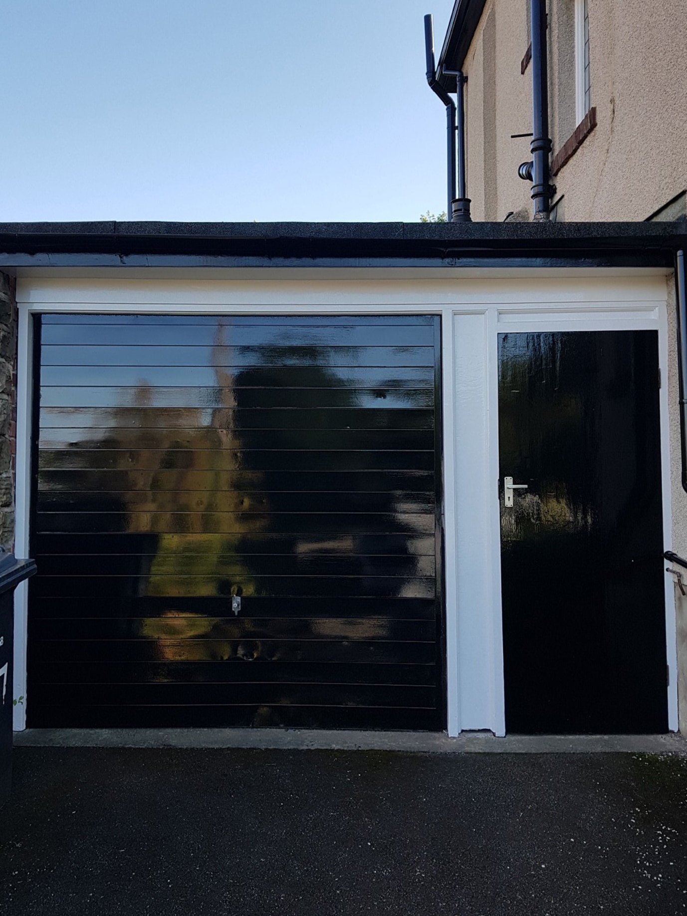 Garage door after Owatrol Oil