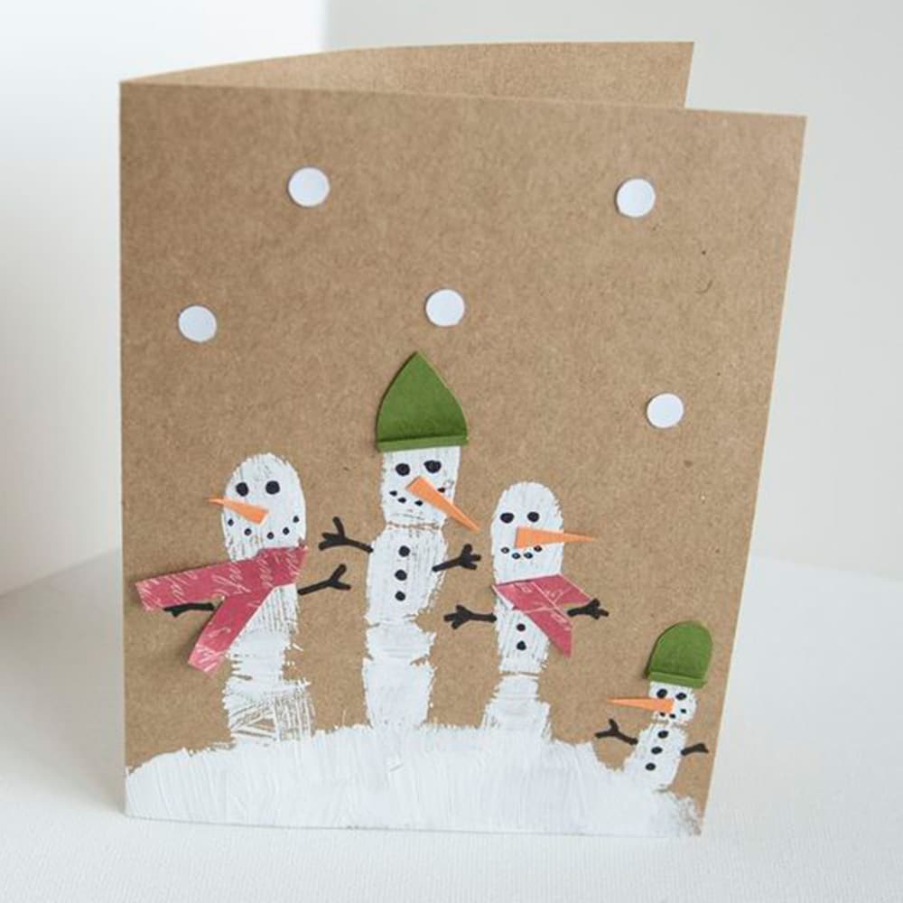 Handmade Christmas card idea