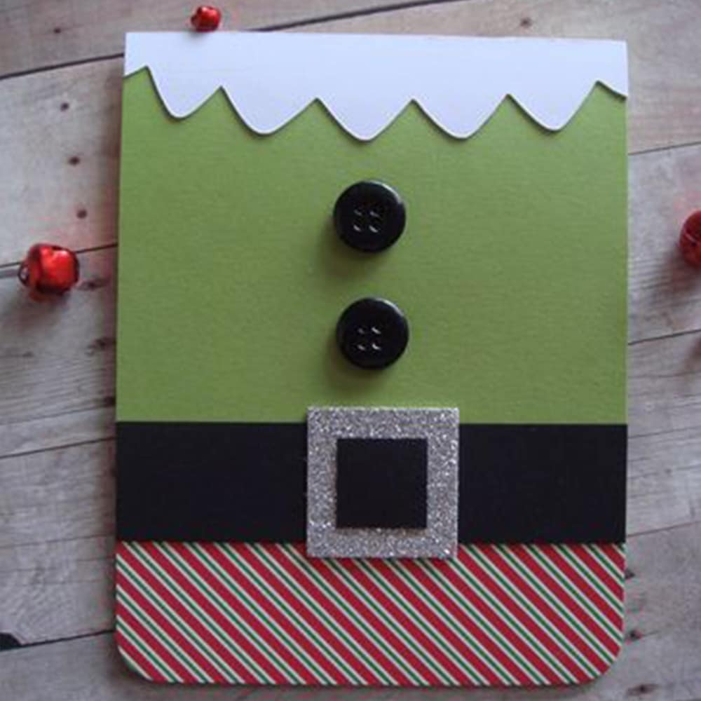 Handmade elf Christmas card idea