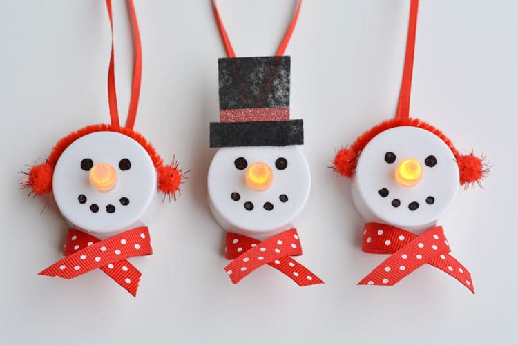 One Little Project Tea Light Snowman Ornament