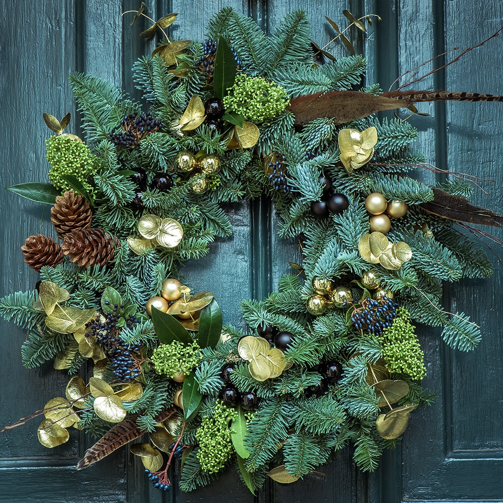 Christmas homemade wreath