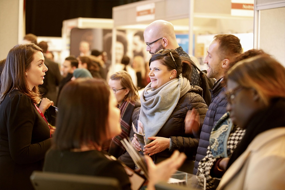Advice being given to first time buyers at FTB Home Show