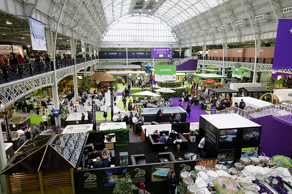 Exhibiting inside The Ideal Home Show