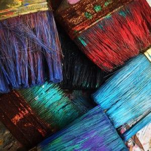 buying paint brushes