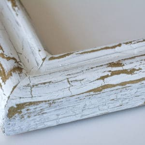 Antik crackle used on a picture frame