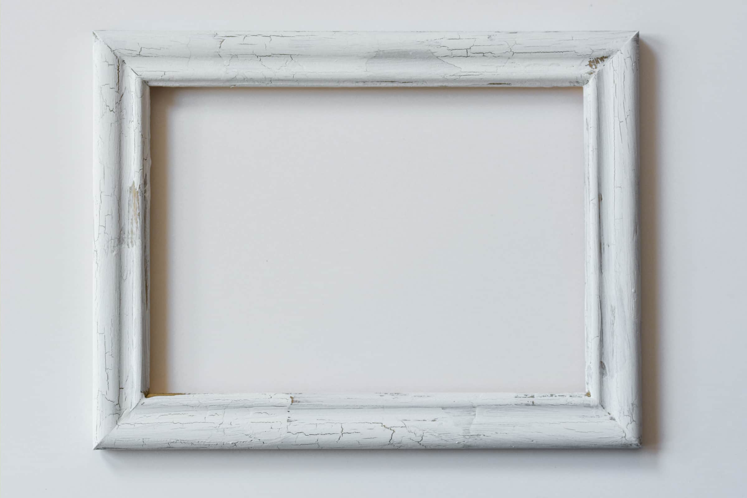Antik Crackle paint effect on frame