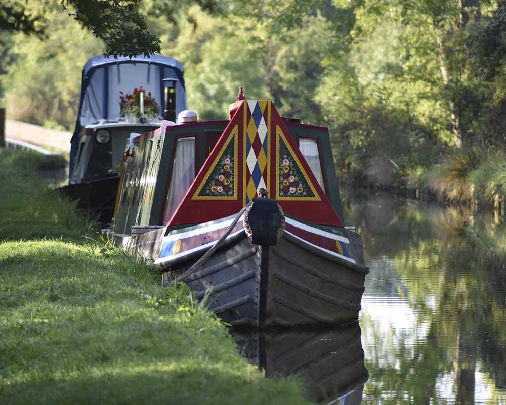 Moored Canal Boat
