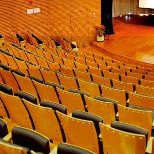 Linitop Vernis used on auditorium chairs