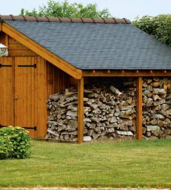 Linitop Prim & Finish used on a fire wood storage hut
