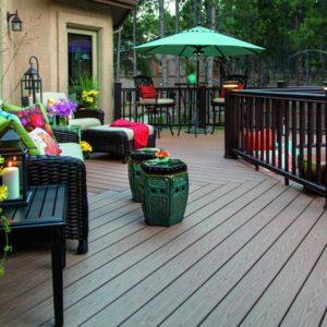 Compoxell on a garden deck