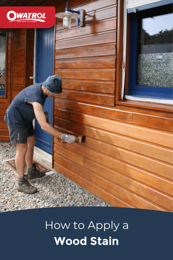 How to apply a wood stain - Pinterest