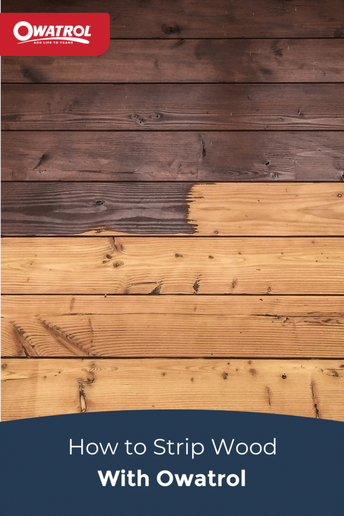 How to strip wood with Owatrol - Pinterest