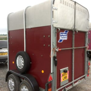 back of horsebox after application of polytrol