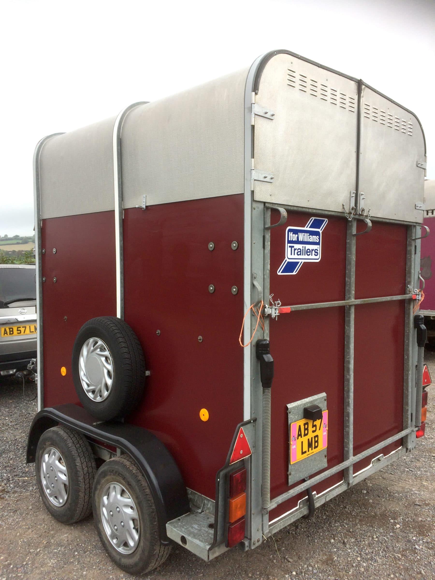 back of horsebox after application of polytrol