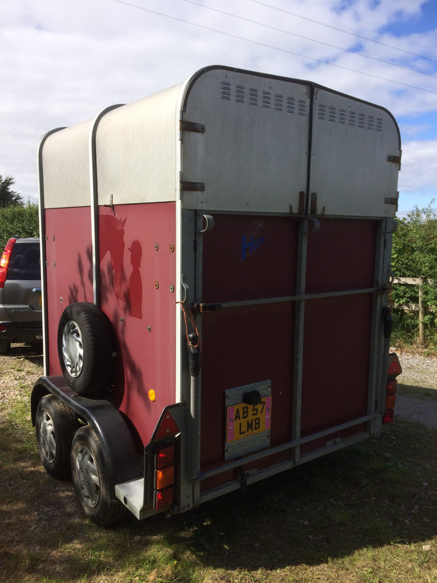 back of horsebox before application of polytrol