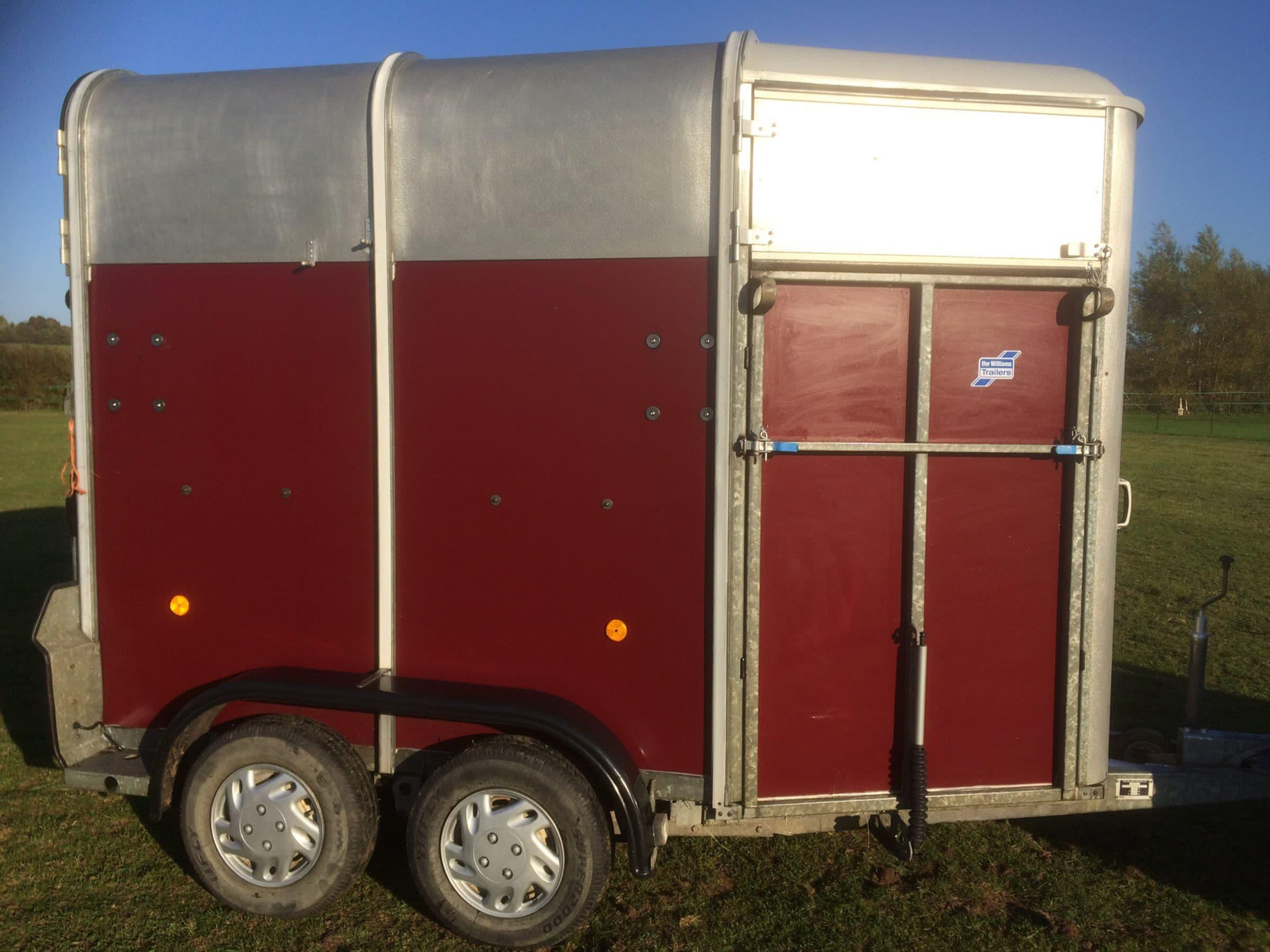 side of horsebox after application of polytrol