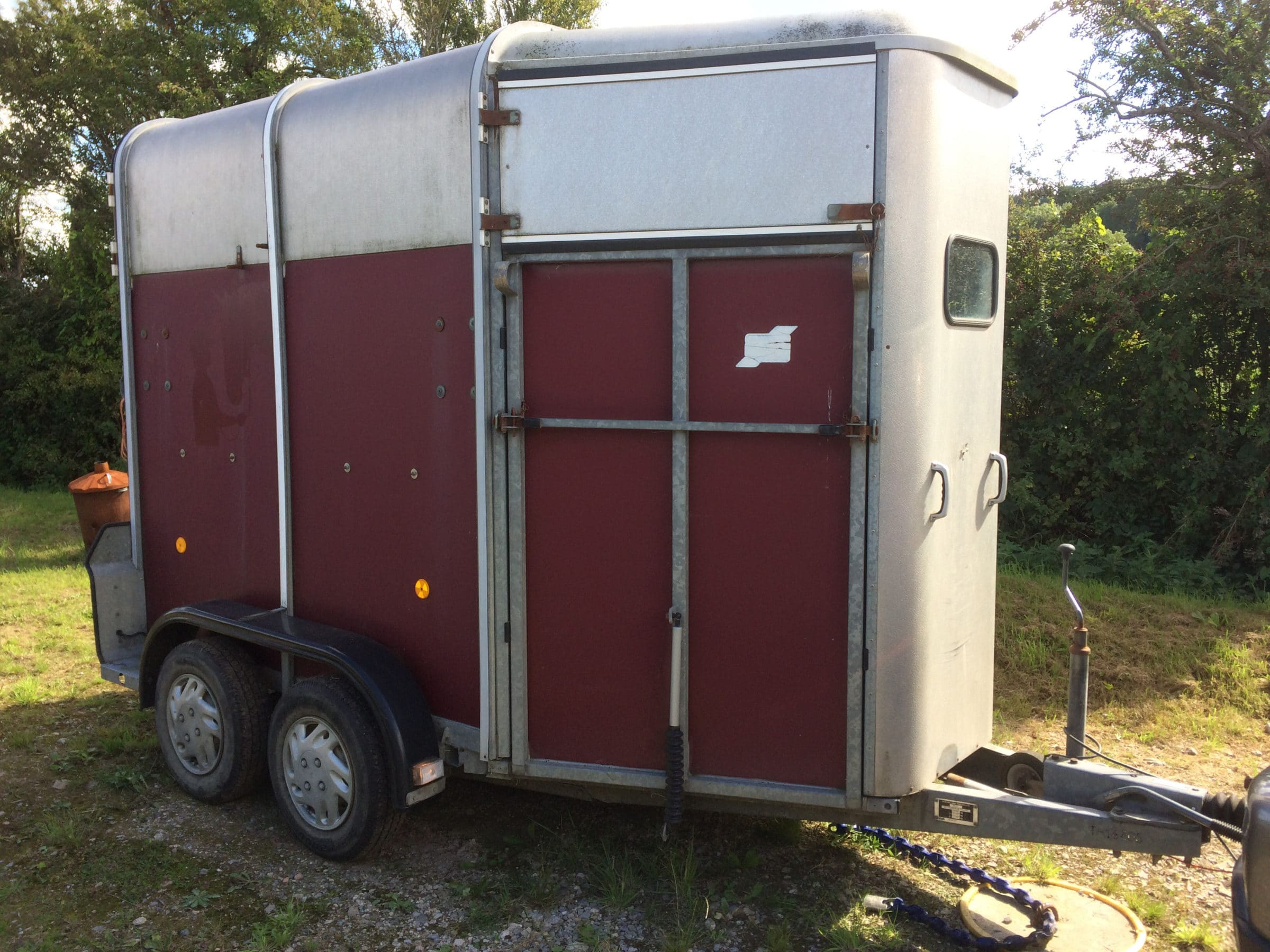 side of horsebox before application of polytrol