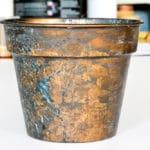 Owatrol Spirit Natural Varnish applied to a plant pot