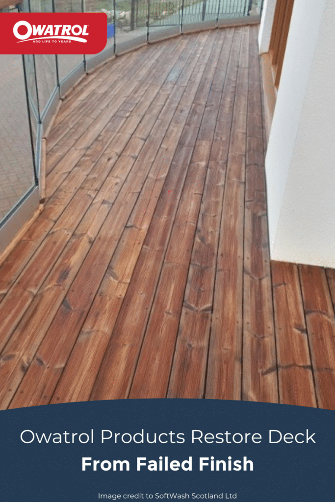 Owatrol products restore deck from failed finish - Pinterest