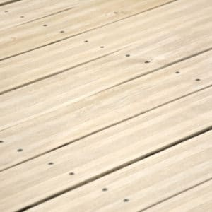 After application of Renoclear to wooden decking