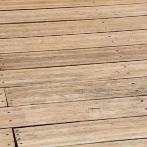 Before application of Renoclear to wooden decking