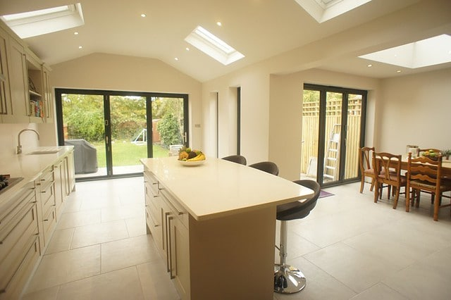 single story house extension