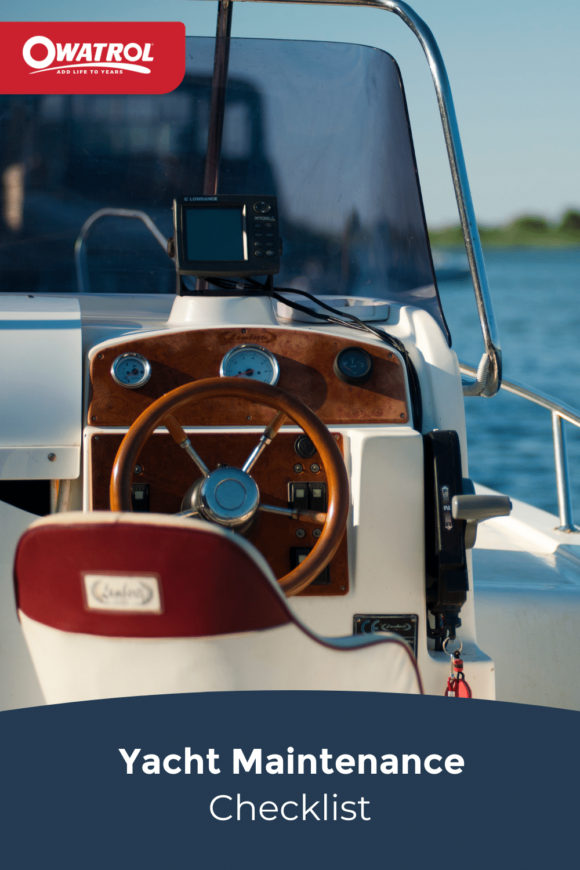yacht maintenance checklist - Pinterest