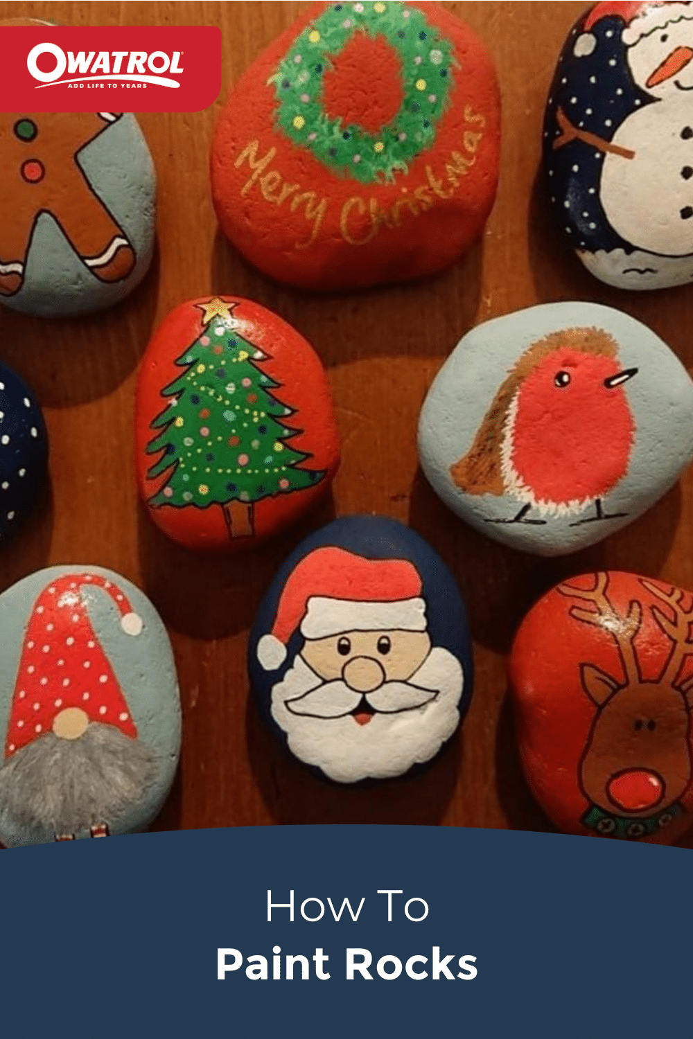 How to paint rocks - Pinterest