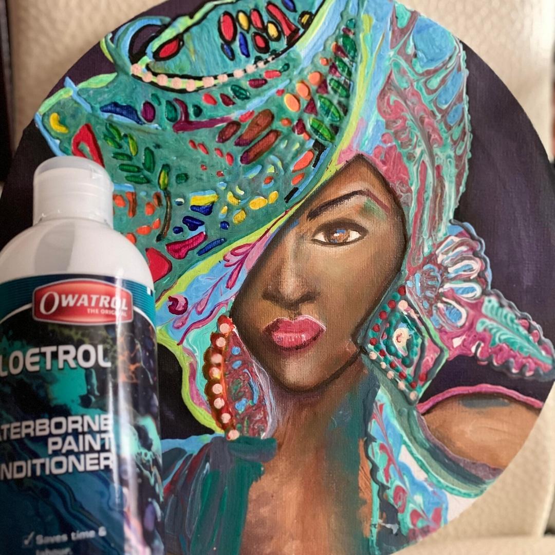 Art by Jasvir with Floetrol