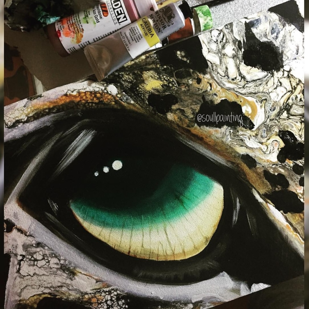 Animal eye created by Jasvir with Floetrol