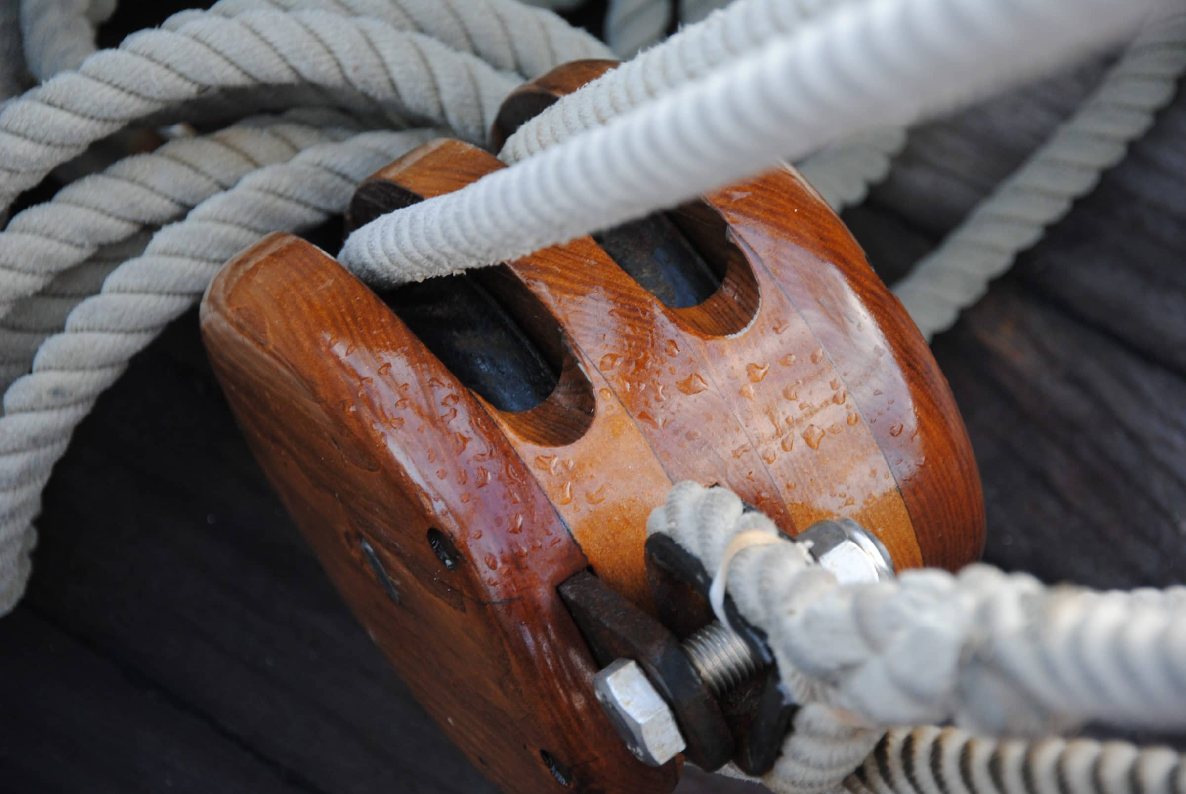 D2 applied to a boat pulley