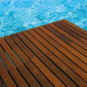 Antislip applied to pool decking